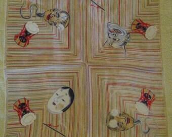 Japan Silk Exhibition Handkerchief