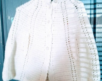 Girls White cape size 8/10