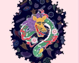 Talisman of East -Blue Dragon-