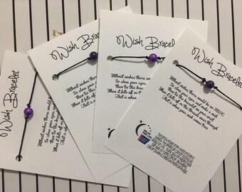 DIY Relay For Life Wish Bracelet Kit // Wish Bracelet Supplies // Do It Yourself Kit // Relay For Life Fundraiser // Survivor Wish