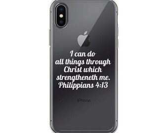 Philippians 4:13 iPhone X Case