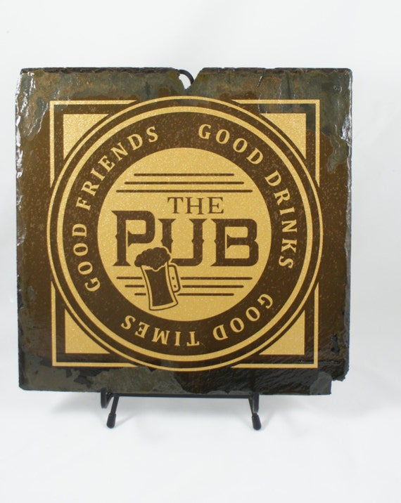CUSTOM PUB SIGN - Slate Pub Sign - Man Cave Decor - Gift for Dad - Private Pub - Fathers Day Gift - Family Room Sign - Pool Room Sign