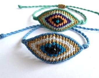 Evil Eye Bracelet, Macrame Bracelet, Friendship Bracelet