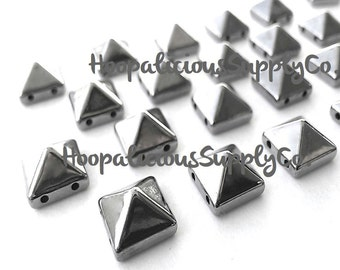 50pc Acrylic Studs. Sew or Glue. 10mm Square Pyramids. Choose Silver, Gold, Brass,or Gun Metal. FAST Shipping w/ Tracking 4 Domestic Orders.