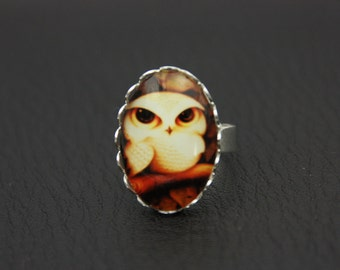 Owl ring, cute owl ring (2020B)