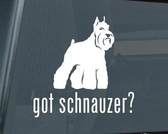 Got Schnauzer v2 Die Cut Vinyl Sticker - 1024