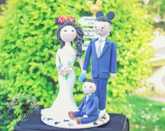 Custom Wedding Cake Topper with Stand
