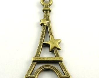 10 charms of the Eiffel Tower bronze dimensions: 26 * 12 * 2 mm