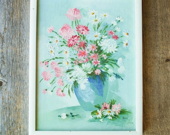 Original Floral Oil Painting | Oil Painting Signed | June |  Acrylic Primed Canvas Painting | Framed