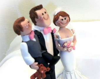 personalised wedding cake toppers bride and groom handmade and children