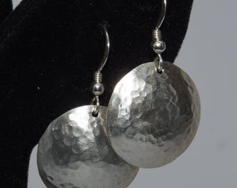 Sterling Silver Domed Earrings in 3 Sizes