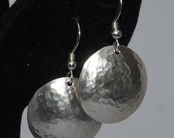 Sterling Silver Domed Earrings in 3 Sizes