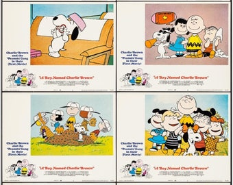 "1969 ""A Boy Named Charlie Brown"" Lobby Card Set. Original Nice for children's room"
