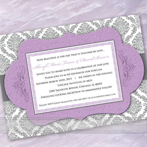 wedding invitations, lavender wedding invitations, bridal shower invitations, wedding invitation and rsvp, bridal shower invitations, IN366