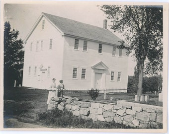 vintage photo 1895 The Meeting house Chestnut Hill Mendon MAss