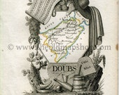 1823 Perrot Map of DOUBS,...