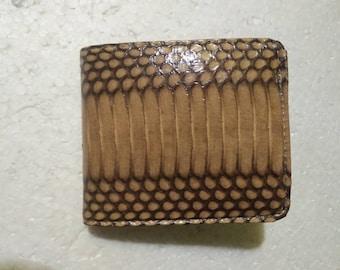 New Handmade Genuine Snake Skin Leather Wallet. COBRA SNAKESKIN WALLET