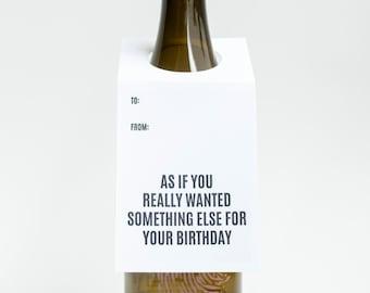 Wine Lover Gift. Something Else Birthday. Wine  and Spirit Letterpress Tags - Set of Three