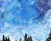 Watercolor Painting, Gala...