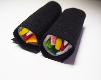 Hand made Felt Sushi Roll - play food