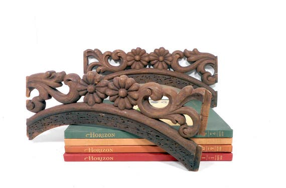 Salvaged Carved Wood Furniture Parts Vintage Architectural Wooden Chair  Parts, Antique Victorian Sofa Backs from LifeProject on Etsy Studio - Salvaged Carved Wood Furniture Parts Vintage Architectural Wooden