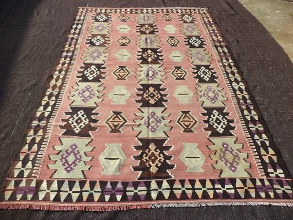 turkish kilim rug64x96 feet 193x290 cm. Black Bedroom Furniture Sets. Home Design Ideas