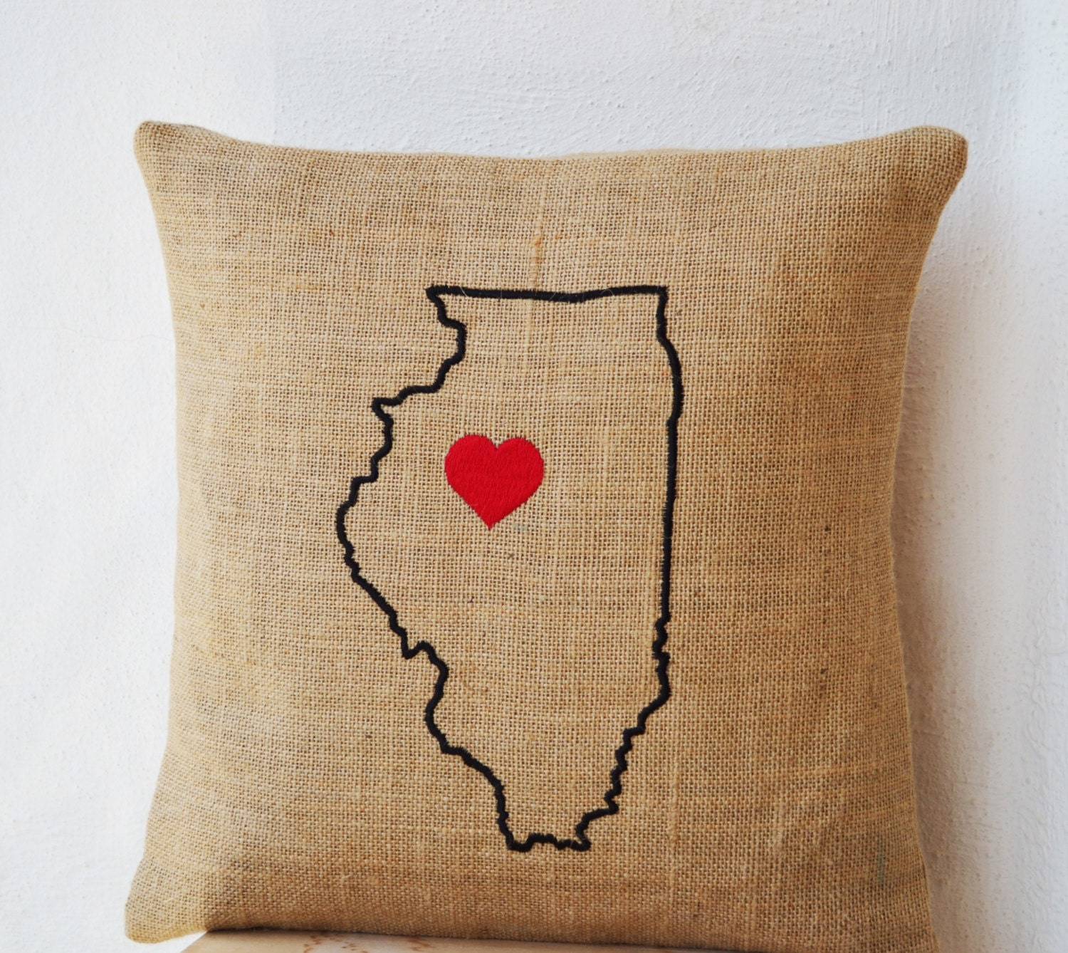 ARIZONA HAND-EMBROIDERED PILLOW - geography (hand-embroidered ...