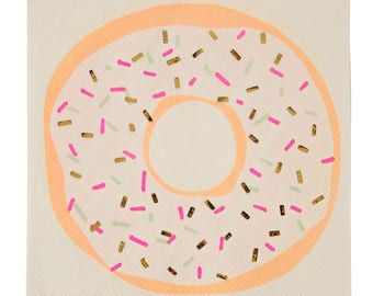 Donut Napkins. Set of 16. Donut Party. Doughnut Party. Baby Shower Decor. Donut Birthday. Party Decor. Donut Grow Up.