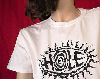 HOLE T-Shirt-In White OR Fuchsia...As Worn by Kurt Cobain...a RARITY  Unworn Retro Nirvana Tori Amos pj Harvey 90s grunge alt punk