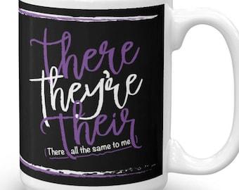Funny Grammar Mug, Grammar Police Coffee Mug, Grammar Lover Gift, Grammar Mug, Grammar Gift, Teacher Gift, English Major Gift, Grammar Cup
