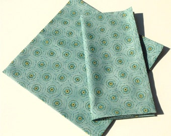 Seaglass and Buttercup Cloth Napkins - Set of 2
