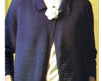 Crochet Pattern Vintage 70s CROCHET TOP PATTERN Crochet Sweater Pattern Crochet Long Cardigan Pattern Instant Download