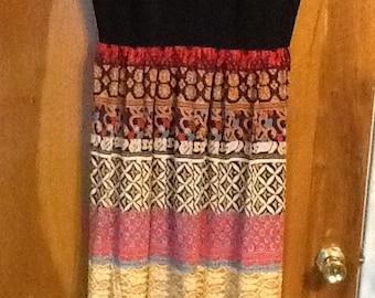Vintage 60s maxi dress Sears Fashions size 16 US 46 EU