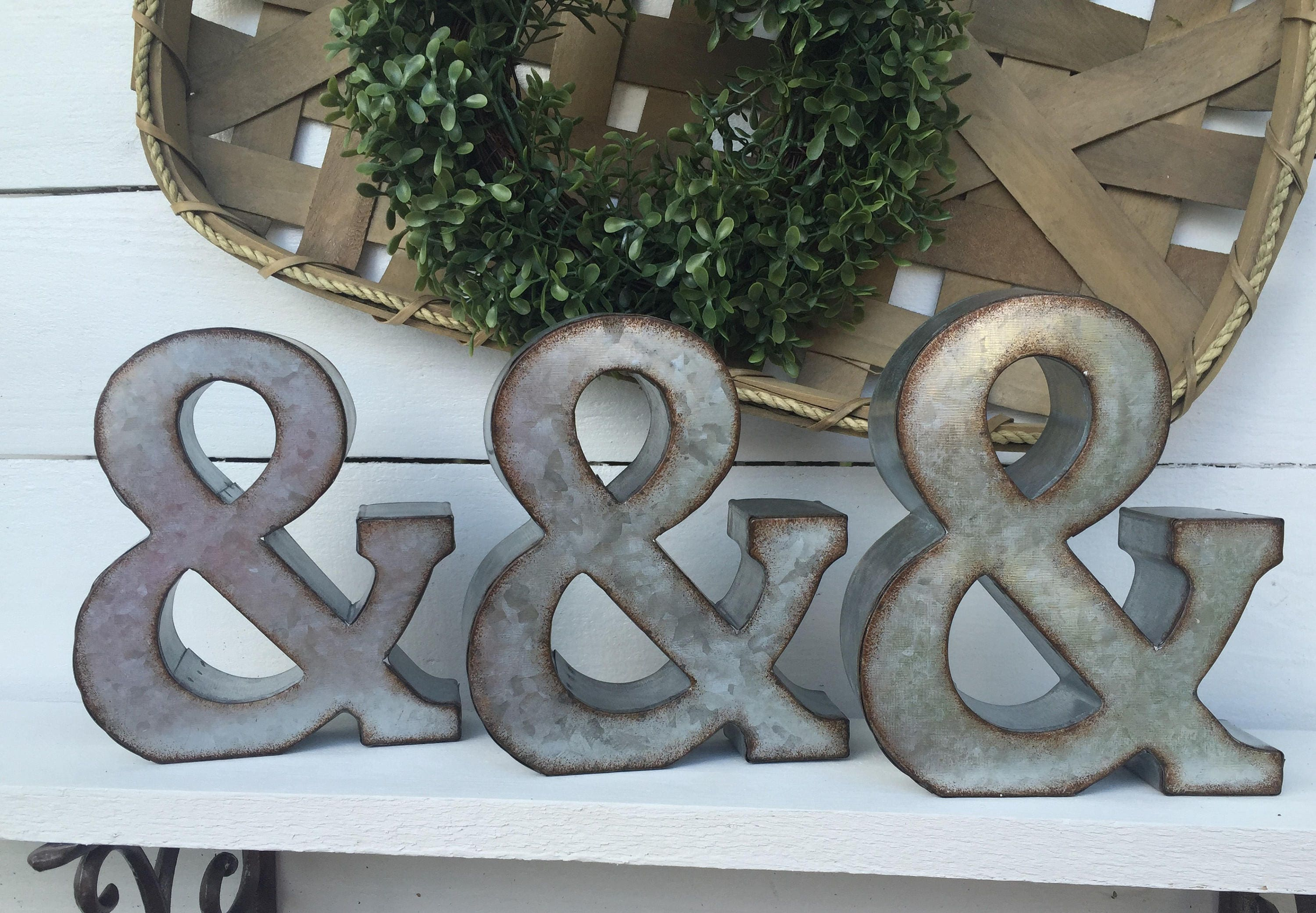 Galvanized Tin Letters Metal Lettersgalvanizedampersandhomewall