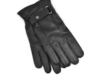 Lamskin Gloves for Man, Lined with Wool