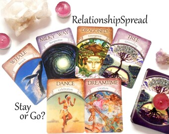 Love Tarot Relationship Spread Tarot Card Reading, Oracle Cards, Same Day Tarot Reading, Psychic Reading w Advise Cards, Intuitive Reading