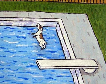 25% off Jack Russell Terrier at the Pool Dog Art TIle
