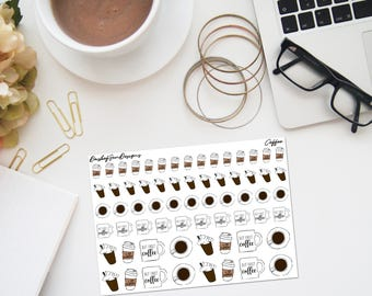 Coffee Stickers | Planner Stickers