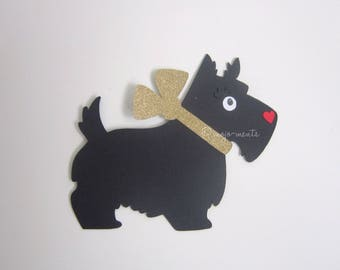 Scotty Dog Die Cuts - Pack of 6 - Assembled and Ready To add Straight On To Your Projects