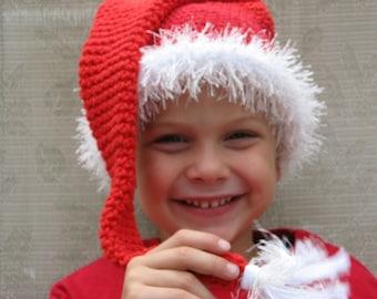 Santa Baby, Long Tassel Hat ,Crochet Pattern Pdf ,newborn to adult sizes