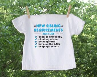 Big Brother or Big Sister // New Sibling Requirements // Baby Boy// Shirt