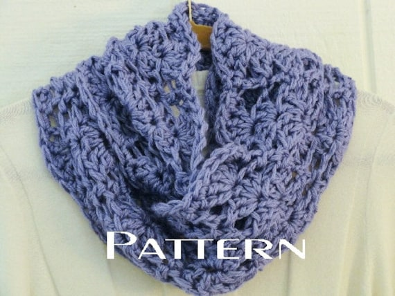 Crochet Pattern Chunky Lace Infinity Scarf Pattern Diy Circle Scarf