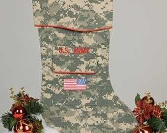 Army ACU Christmas Stocking