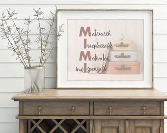 Custom Name Artwork, Grandfather Gift, Personalized Name Print, Custom Mother's Day Gift, Mother's Day Gift, Personalized Grandmother Gift