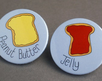 Couples badge set: Peanut Butter and Jelly.