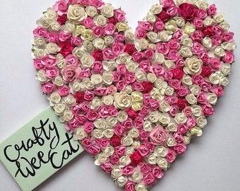 Custom Floral Heart - Nursery Decor - Nursery Wall Decor - Nursery Wall Art - Flower Heart - Wedding Decor - Floral Letter - Home Decor