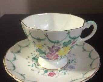 E.B. Foley Tea Cup and Saucer