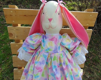 Tessa the Stuffed Easter Bunny Rabbit Doll