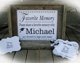 Graduation Party Idea, Grad Party Idea, Grad Party Decor, Graduation Party Decorations, Favorite Memory with the Grad