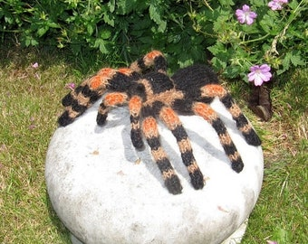 HALF PRICE SALE Knitting pattern digital pdf download - My Pet Tarantula Toy Spider pdf download knitting pattern